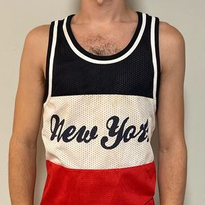 H&M red, white and blue New York tank / jersey